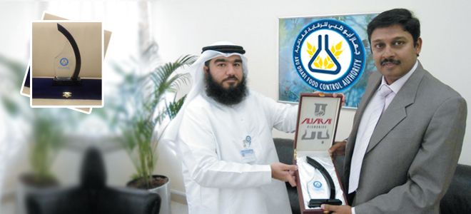 ADFCA honored Al Jaraf Fisheries LLC