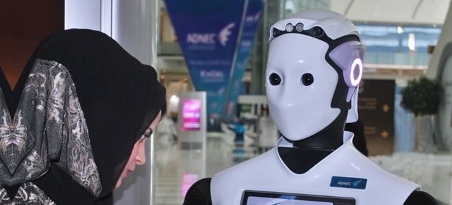 ADNEC trials advanced visitor-assistance robot